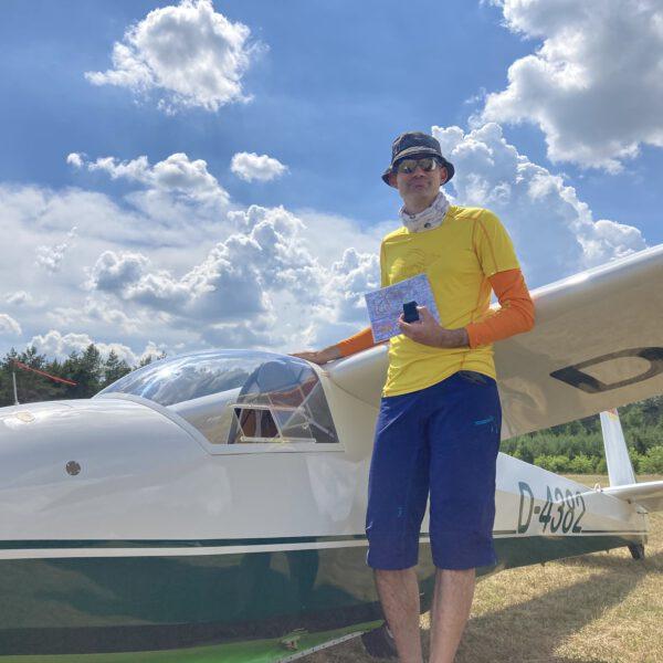 Sebastian absolviert seinen 50km Streckenflug